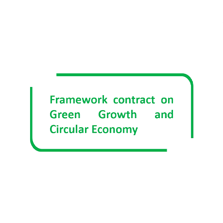 """Logo of the project """"Framework contract on Green Growth and Circular Economy"""""""